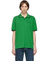 Comme des Garçons - Fred Perry Edition グリーン ピケ ポロ - Lyst