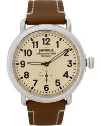 Shinola シルバー And オフホワイト The Runwell 41mm Watch - マルチカラー