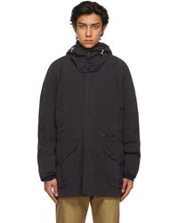 Barbour Navy Overdyed Beaufort Casual Coat - Blue