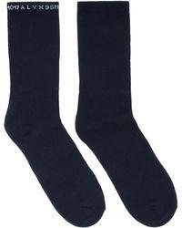 1017 ALYX 9SM マルチカラー ロゴ ソックス 3 足セット - ブルー