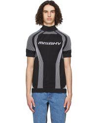 MISBHV ブラック Active Sport ショート スリーブ タートルネック