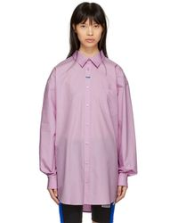 Martine Rose - Pink Oxford Shirt - Lyst