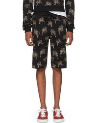 Dolce & Gabbana - Black Leopard Bermuda Shorts - Lyst