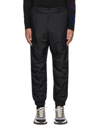 3 MONCLER GRENOBLE ブラック スポーツ パンツ