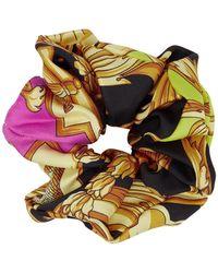 Versace Black Barocco Scrunchie - Multicolour