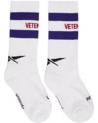 Vetements - White Reebok Edition Classic Logo Socks - Lyst