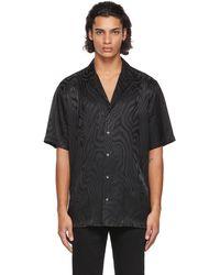 Opening Ceremony Black Jacquard Short Sleeve Shirt