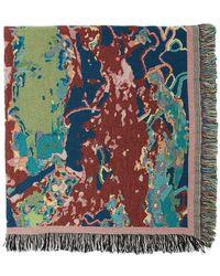 Sies Marjan Multicolour Amo Edition Pastoral Blanket - Blue