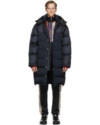 Gucci Black Down GG Supreme Coat