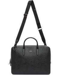 Smythson Black Panama Slim Lightweight Briefcase