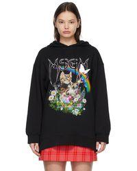MSGM ブラック Cat フーディ
