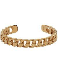 Givenchy ゴールド G Chain オープン バングル ブレスレット - メタリック