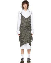 Pushbutton Ssense 限定 ホワイト And ブラック ポロ シャツ ドレス