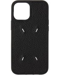 Maison Margiela Black Four Stitch Iphone 12 Pro Max Case