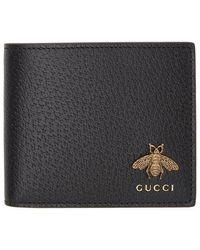 Gucci Portefeuille a deux volets noir Bee