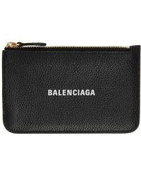 Balenciaga - ブラック ロング Essential コイン & カード ケース - Lyst