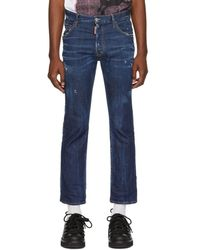 DSquared² - Blue Cropped Flare Jeans - Lyst