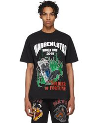Warren Lotas World Tour Crewneck Cotton-jersey T-shirt - Black
