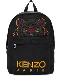 KENZO Black Canvas Tiger Backpack