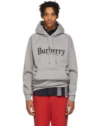 Burberry - Grey Clarke Hoodie - Lyst