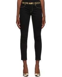 Versace Jeans Couture ブラック ブランド タグ ジーンズ