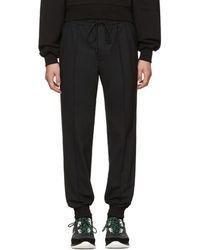 Juun.J - Black Drawstring Trousers - Lyst