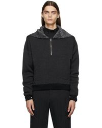Sasquatchfabrix. Fleece Cadet Half-zip Hoodie - Black