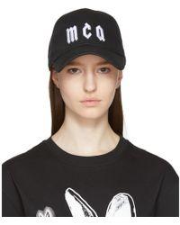 McQ - Black Logo Baseball Cap - Lyst