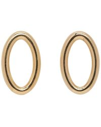All_blues - Gold Small Eclipse Earrings - Lyst