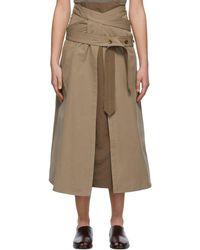 Lemaire ブラウン トレンチ スカート