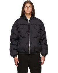 Maison Margiela ブラック パファー ジャケット