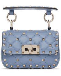Valentino Garavani Blue Micro Rockstud Spike Bag