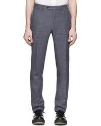 Eidos Gray Linen Slim Suit Pants