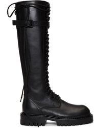 d853e302445 Ssense Exclusive Black Leather Lace-up Boots