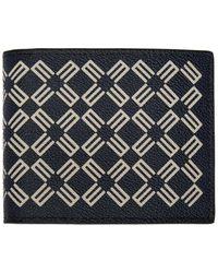 Etro ネイビー ロゴ パターン ウォレット - ブルー