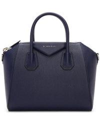 Givenchy - Navy Small Antigona Bag - Lyst