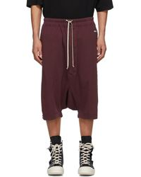 Rick Owens Drkshdw Burgundy Pods Shorts - Multicolour