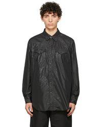 Engineered Garments ブラック Alligator ウエスタン シャツ