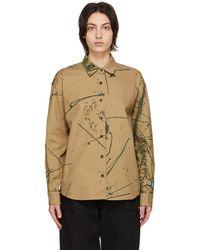 Reese Cooper Tan Cotton Canyon Camo Shirt - Multicolour