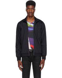 PS by Paul Smith - Navy Multistripe Zip Sweater - Lyst