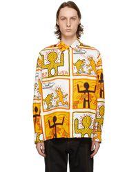 Etudes Studio Keith Haring Foundation エディション ホワイト Illusion シャツ - マルチカラー