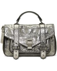 Proenza Schouler - Silver Tiny Ps1and Messenger Bag - Lyst