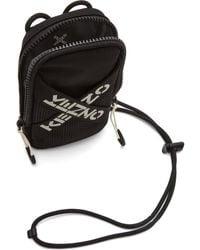 KENZO - ブラック Sport ロゴ フォン ポーチ - Lyst