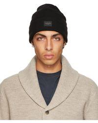 Rag & Bone Addison Beanie Wool Hat - Black