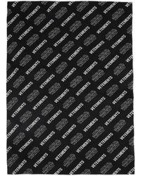Vetements Star Wars Edition ブラック And ホワイトオール オーバー ロゴ スカーフ