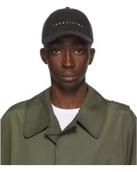 Random Identities ブラック And グレー ロゴ キャップ - グリーン