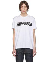 DSquared² - ホワイト ミラー ロゴ T シャツ - Lyst