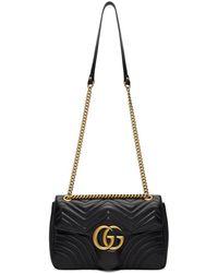 7420640283a4 Lyst - Gucci Gg Marmont Matelassé Mini Bag in Black