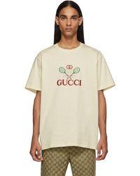 Gucci - ホワイト GG テニス クラブ T シャツ - Lyst