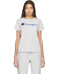 Champion Gray Big Script T-shirt